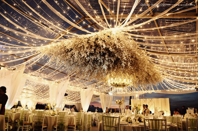 suspended-wedding-flowers-tent